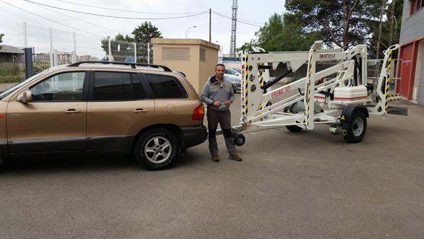 Trailer mounted aerial work platform Matilsa Parma 15T