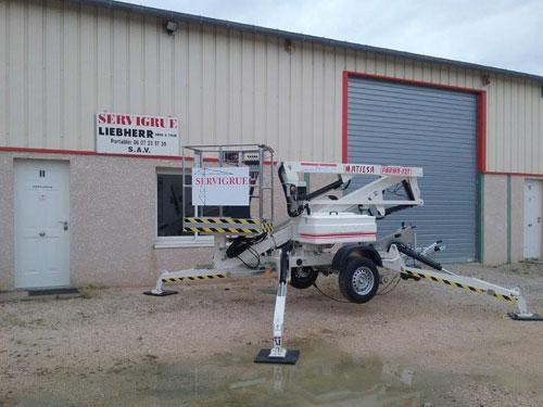Trailer mounted aerial work platform Matilsa Parma 12T