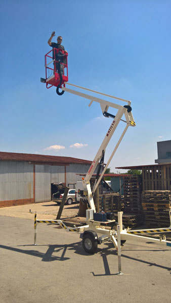 Trailer mounted aerial work platform Matilsa Parma 9
