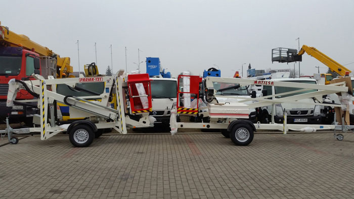 Trailer mounted aerial work platforms Matilsa