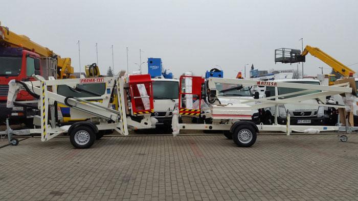 Trailer mounted aerial work platforms Matilsa