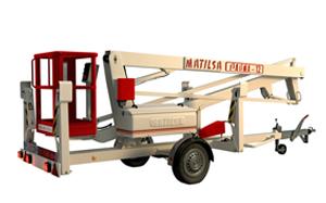 Trailer mounted aerial work platform Matilsa Parma12
