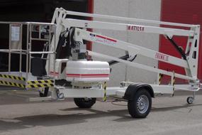 Trailer mounted aerial work platform Matilsa Parma15