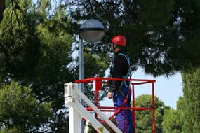 Trailer mounted aerial work platform Matilsa Parma7